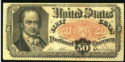 50 Cent 50C 5Th Issue  Fr # 1381 Fractional Currency Very Fine