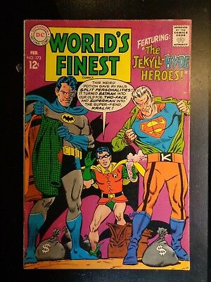 DC  WORLD'S FINEST #173  1968    First Silver-Age TWO-FACE