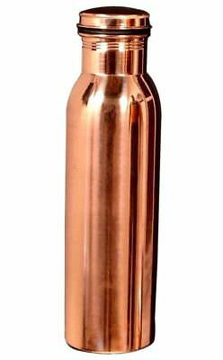 100% Pure Copper Water Storage Bottle Ayurveda Yoga Health Benefits (950 ML)