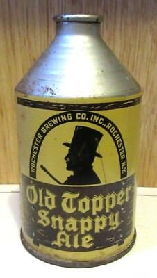 IRTP 1940's Old Topper Snappy Ale 12 FL OZ Crowntainer Cone Top Beer Can