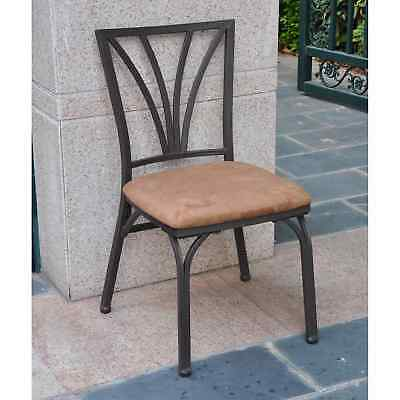 International Caravan Santa Fe Iron Dining Chairs with Micro Suede Upholstered