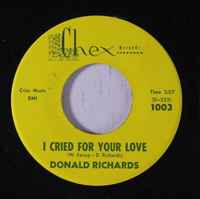 DONALD RICHARDS & GROUP: I Cried For Your Love / Hello Operator 45 (60s Soul)