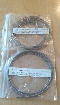 """Steris/Amsco P117903-154 Door Cable, 444 SS Counter Weight; 120"""" Pkg/2"""