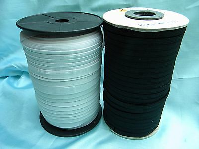 "Braid Stronger Elastic Black / White Size From 1/8"" to 1/2"" Wide~New"