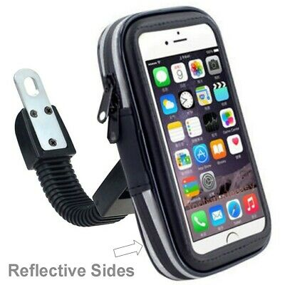Waterproof Motorcycle Scooter Mount Holder Case iPhone Phone Rear View Mirror