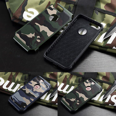 Army Camo Pattern Protective Slim Hard Back Case Cover For iPhone Samsung Huawei