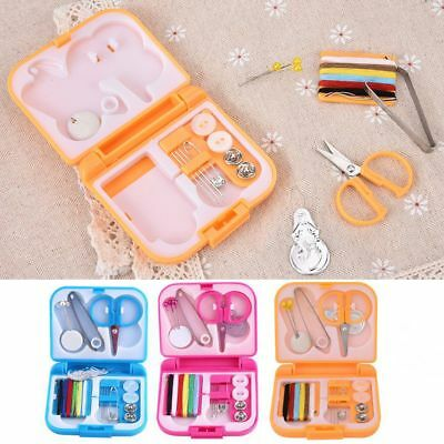 Mini Sewing Kit Thread Needles Scissors Sewing Tools Case Home Travel Emergency