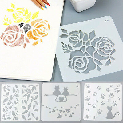 Reusable Airbrush Template Painting Stencils Scrapbooking Decor Wall Craft Hot