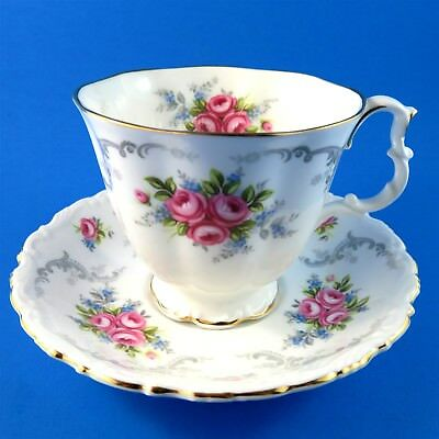 Ornate Royal Albert Tranquility Tea Cup and Saucer Set