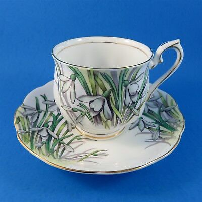 Royal Albert Painted Flower of The Month Snowdrop #1 Tea Cup and Saucer