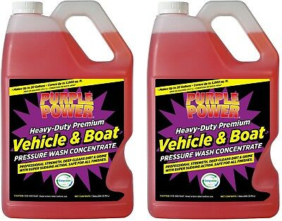(2 Jugs) Purple Power Cleaner Vehicle & Boat Pressure Wash Concentrate 1 Gallon
