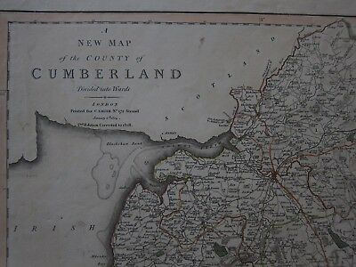 Original Map of Cumberland - C. Smith 1804