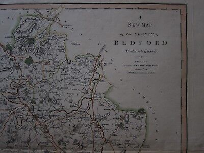 Original Map of Bedford - C. Smith 1804