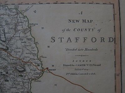 Original Map of Stafford - C. Smith 1804