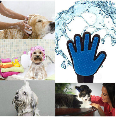 Pet Grooming Massage Bath Deshedding Glove Brush Comb For Dogs Cats Rabbits Pets