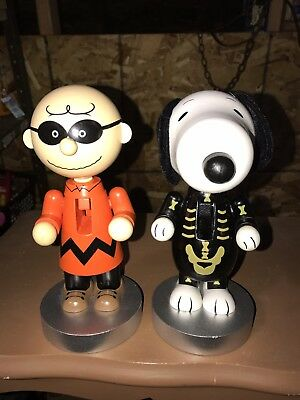 New Peanuts Skeleton Snoopy & Boogeyman Charlie Brown Halloween Nutcrackers