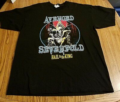 Avenged Sevenfold Hail to the King Tour 2013 Concert T-shirt Men's Size XL