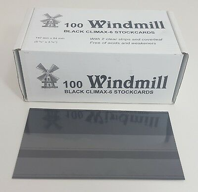 Windmill stockcards for stamps - Retail Boxed - for approvals etc 2 or 3 strips