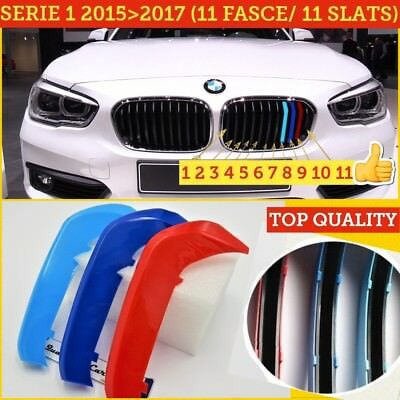 Bmw SERIE 1 F20 F21 2015> M sport fasce Calandre front grill cover griglie 118 d