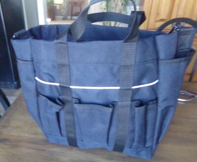 NWT! ROMA BLACK DELUXE GROOMING TOTE for Carrying Brush and Horse Grooming Tools