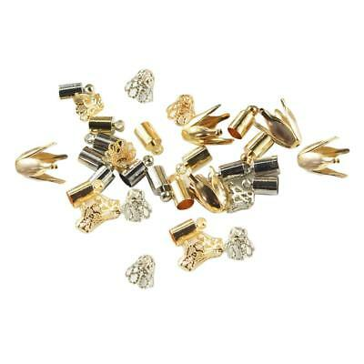 50pcs Necklace Cord End Caps Tassel Crimp End Connector DIY Jewelry Findings