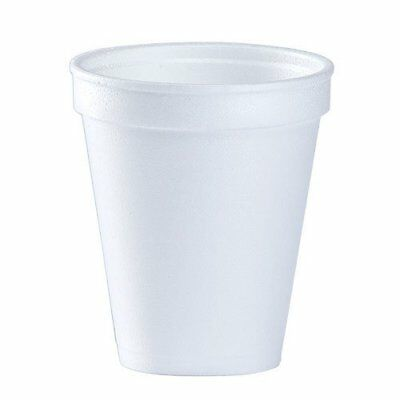 Disposable Coffee Foam Cups For Hot And Cold Drinks White 8Oz 51 Count