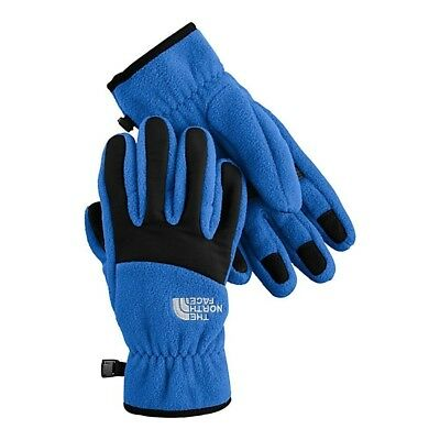 New North Face Denali Glove for Boys Large Nautical Blue/TNF Black
