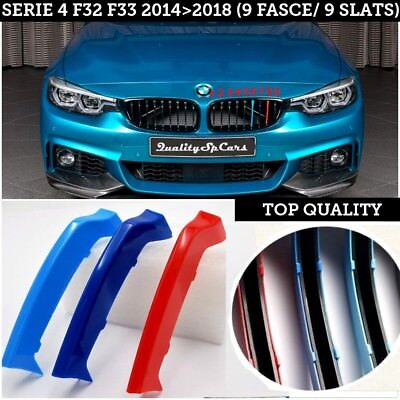 Fasce griglie Bmw SERIE 4 F32 F33 M sport calandre cover front grill 420430 powe