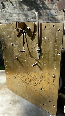 fusee clock movement engraved