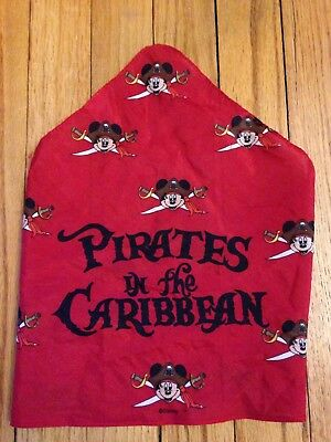 DISNEY Boy's PIRATES OF THE CARRIBEAN Mickey Mouse Bandana Scarf Red AND COSTUME