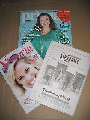 PRIMA MAGAZINE JANUARY 2018 With Unused Paper Sewing Pattern For ...
