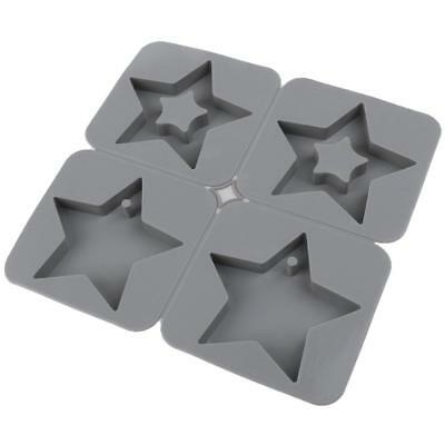 4 Cavity Star Silicone Mold for Soap,Wax,Flower,Cake, Muffin,Brownie,Pudding