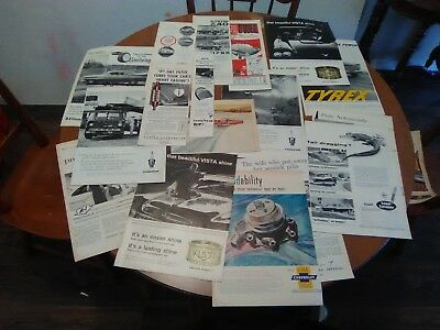 Huge Vintage1959 Automotive Advertising Ads Lot  Old Car Truck  Ford Chevy Dodge