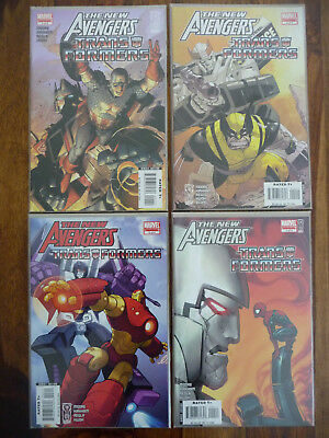 Marvel Comics The Transformers The New Avengers 4 Issues Limited Series Top