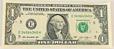 2013 $1 United States Dollar Bill Bookend Serial # 340 64 340