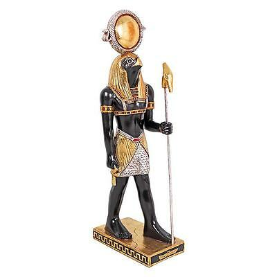 """Large 37.5"""" Horus, Falcon God of Divine Order With Scepter Egyptian Deity Statue"""