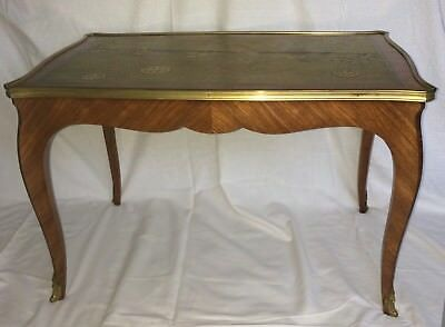 Antique Rare L.Bontemps Paris French Low Kingwood Table Japanese Lacquered Top