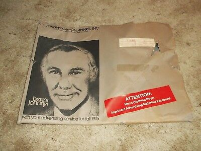 Vintage Fall 1976 Johnny Carson Apparel Advertising Materials w/ Large Envelope