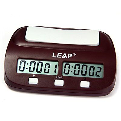 LEAP PQ9907S Digital Chess Clock Count Down Timer for Board Game I-GO Internatio