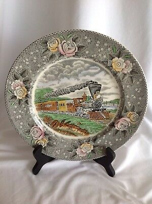 Currier & Ives American Express Train Collector Plate