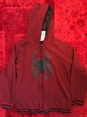 Marvel Comics Original Ultimate Spider-man 14/16 XL Gray Full Zip-up Hoodie