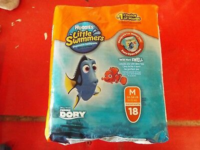 Diapers Size Medium Huggies Little Swimmers Swim 18 Count