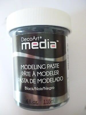 DecoArt media Modellierpaste schwarz 118 ml