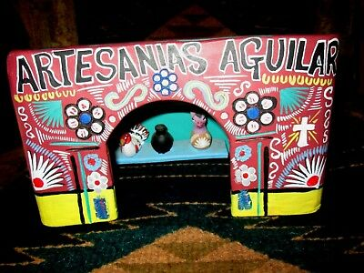 Vintage Mexican Folk Art Pottery Shop with Many Pieces, Alejandro G. Aguilar,