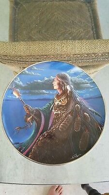 "CHARLES FRIZZELL Native American Indian Collector Plate ""Wisdom of the Ages"""