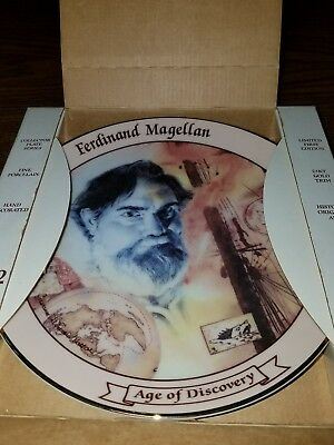 Ferdinand Magellan Age of Discovery 1492 Collector Plate In Box