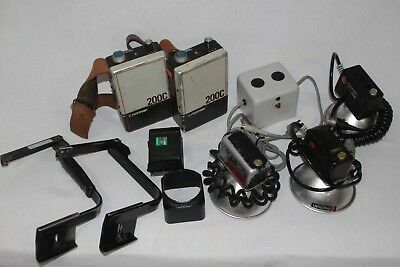 LOT OF NORMAN 200C BATTERY PACKS, FLASH, and CHARGER, with EXTRAS!