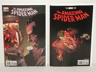 Amazing Spider-Man 794 & 795 2nd Prints (NM-/NM or 9.2/9.4) Red Goblin Carnage