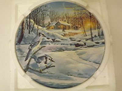 Twilight Serenade Wings Of Winter Collection Plate D L Rust Bluejays