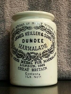 James Keiller & Sons Dundee Marmalade Stoneware Nestles Ca. With original Lid